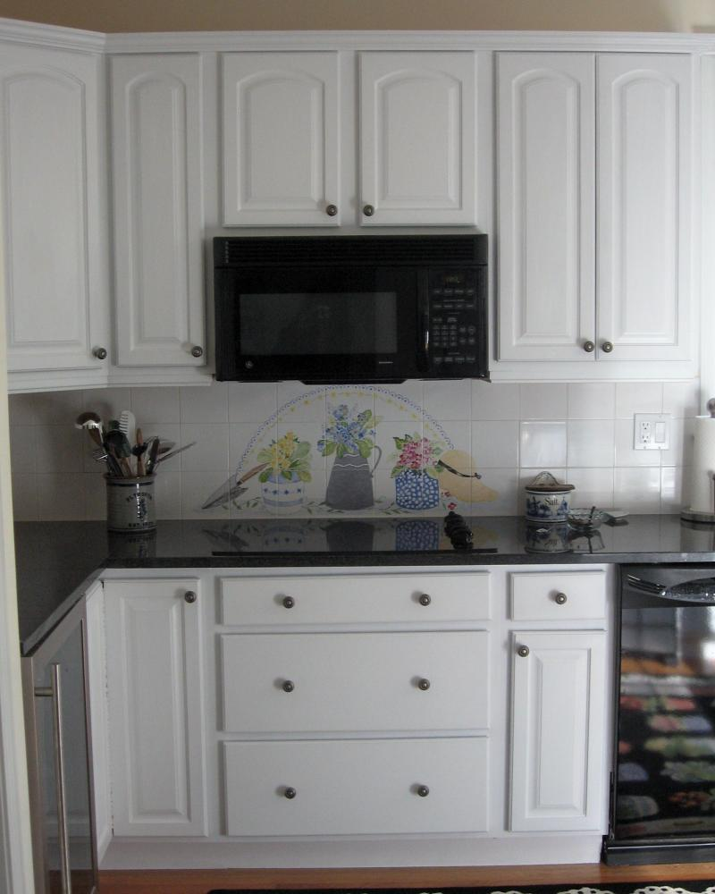 Cape cod, flower pots,susan davies, kitchen backsplash,pine hills, plymouth